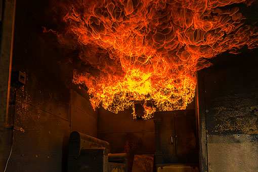 Flashover im Container